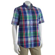 Chaps Dockside Plaid Easy-Care Casual Button-Down Shirt - Big and Tall