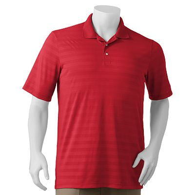 Chaps Striped Golf Performance Polo - Big and Tall