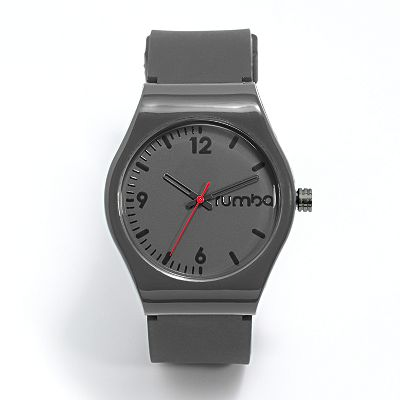 RumbaTime Delancey Gray Silicone Watch - 18873 - Men