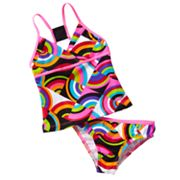 Speedo Patchwork 2-pc. Tankini Swimsuit Set - Girls 7-16