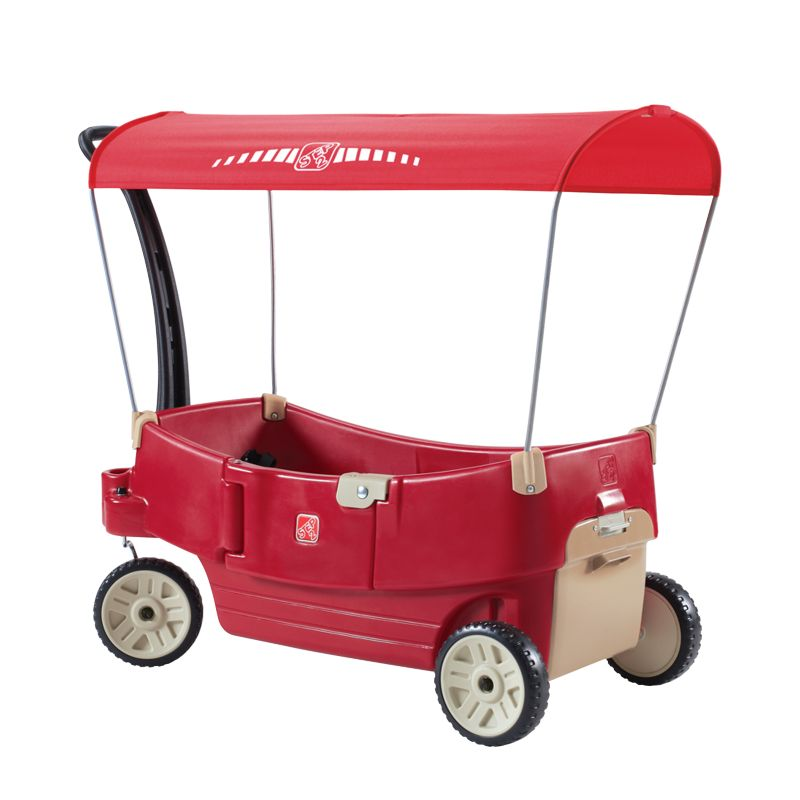 Step2 All Around Canopy Wagon, Multicolor