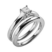 14k White Gold 1/4-ct. T.W. Diamond Solitaire Ring Set