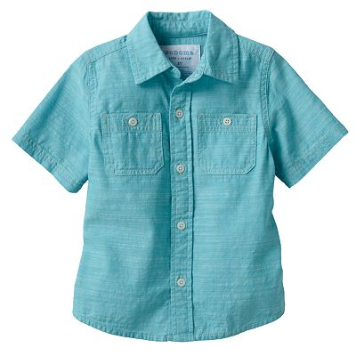 SONOMA life + style Chambray Woven Button-Down Shirt - Toddler
