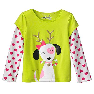 Jumping Beans Mock-Layer Puppy Tee - Toddler