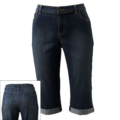 Croft and Barrow Cuffed Denim Capris