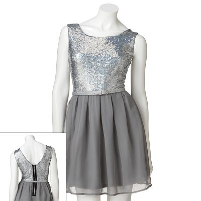 Lily Rose Sequin Sleeveless Dress - Juniors
