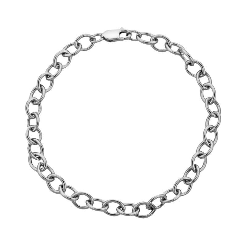 """Sterling Silver Rolo Chain Bracelet, Women's, Size: 7.5"""", multicolor"""