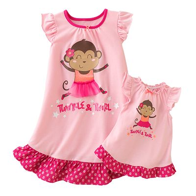 Jumping Beans Monkey Nightgown - Toddler