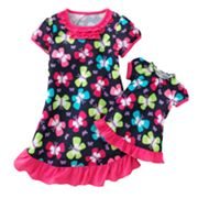Jumping Beans Butterfly Ruffled Nightgown - Toddler