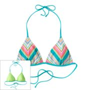 SO Striped Reversible Triangle Bikini Top