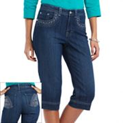 Gloria Vanderbilt Addie Embellished Denim Skimmer Pants