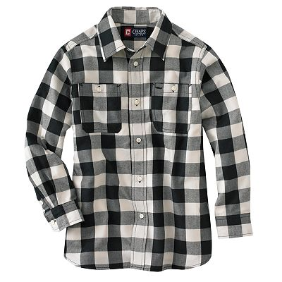 Chaps Large Buffalo Checked Button-Down Shirt - Boys 4-7