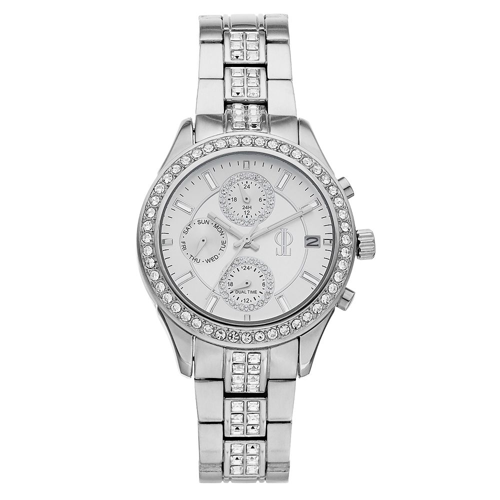 Jennifer Lopez Women's Crystal Stainless Steel Multifunction Watch