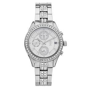 Jennifer Lopez Women's Crystal Stainless Steel Multifunction Watch