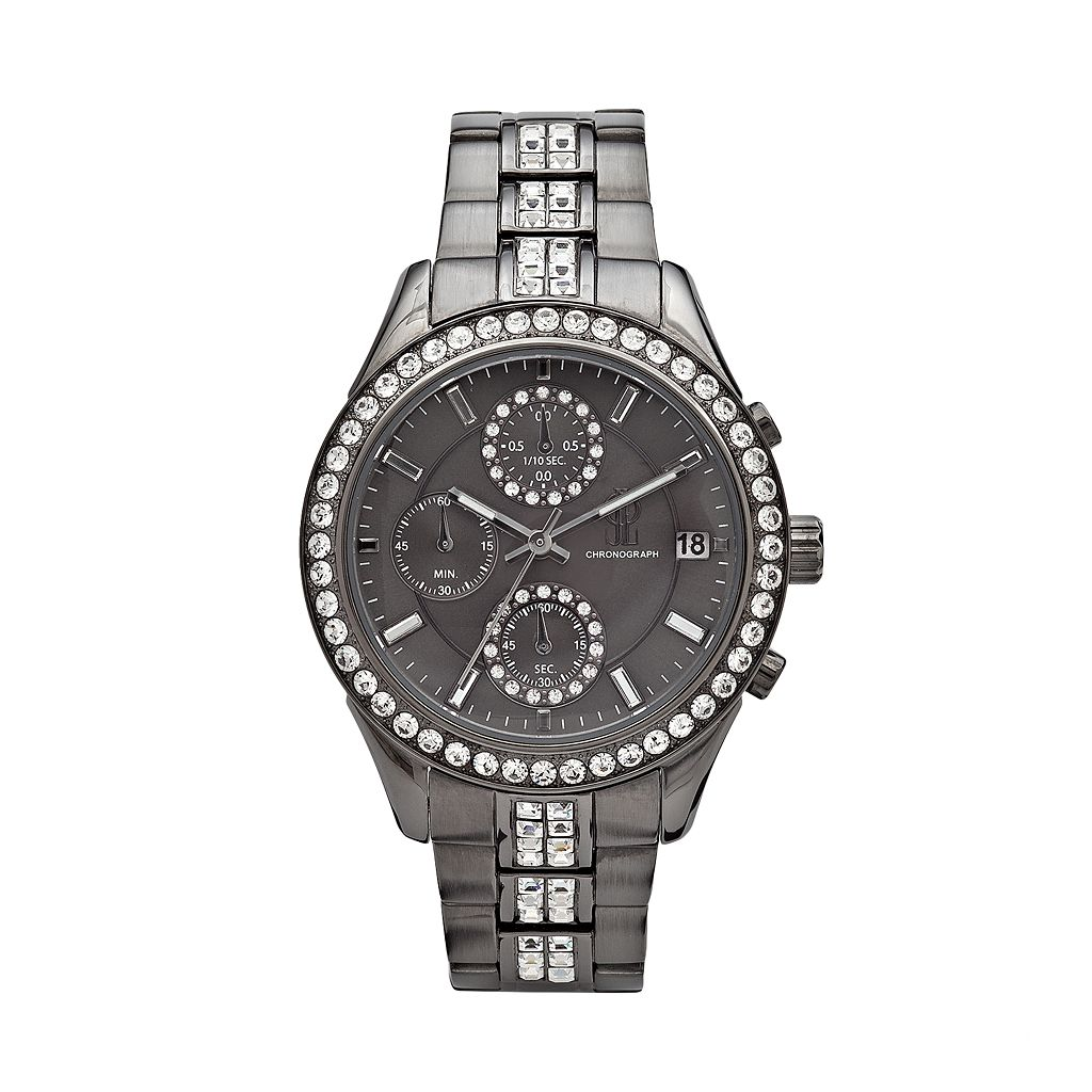 Jennifer Lopez Women's Crystal Stainless Steel Chronograph Watch