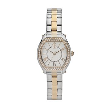 Jennifer Lopez Women's Crystal Two Tone Stainless Steel Watch