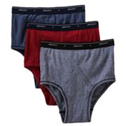 Jockey 3-pk. Classic-Fit Striped Full-Rise Brief