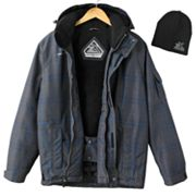 ZeroXposur OXIDE Plaid  Hooded Snowboard Jacket and Beanie Set - Men