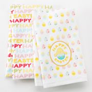 Blossoms and Blooms Easter Chick Patch 2-pk. Kitchen Towels