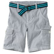 SONOMA life + style Striped Belted Cargo Shorts - Boys 4-7x