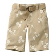 SONOMA life + style Skull and Cross Bones Twill Shorts - Boys 4-7