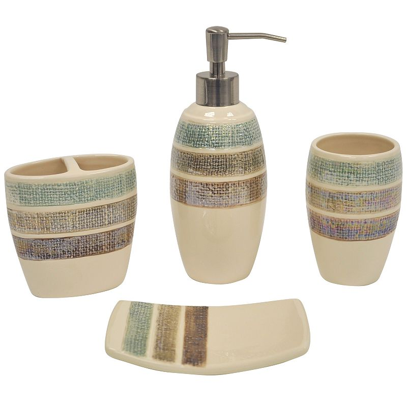 Sonoma life style sonoma life style catalina for Striped bathroom accessories sets