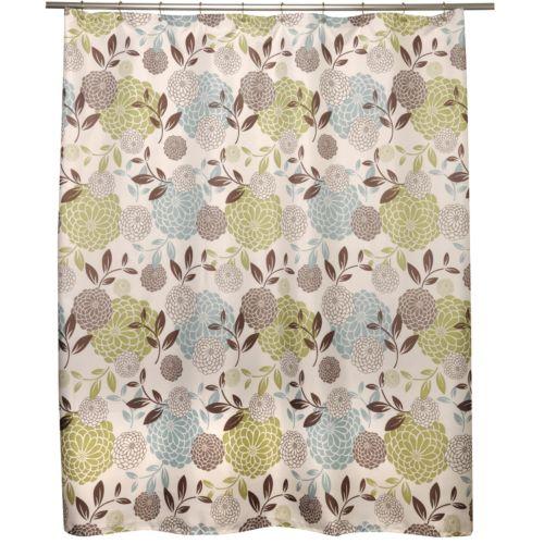 Famous Home Fashions Margarita Fabric Shower Curtain