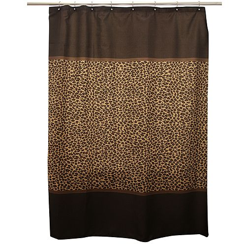 Famous Home Fashions Leopard Shower Curtain