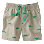 Jumping Beans Alligator Canvas Shorts - Baby