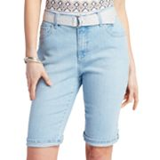 Gloria Vanderbilt Amanda Slimming Denim Bermuda Shorts
