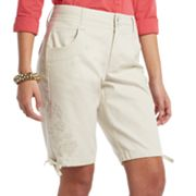 Gloria Vanderbilt Hazel Embroidered Bermuda Shorts