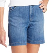 Gloria Vanderbilt Amanda Slimming Embroidered Denim Shorts