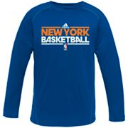 adidas New York Knicks Heathered Speedwick Performance Tee - Boys 8-20