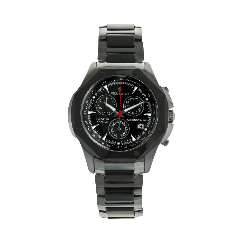 Peugeot Men's Tungsten & Ceramic Chronograph Watch - PS923