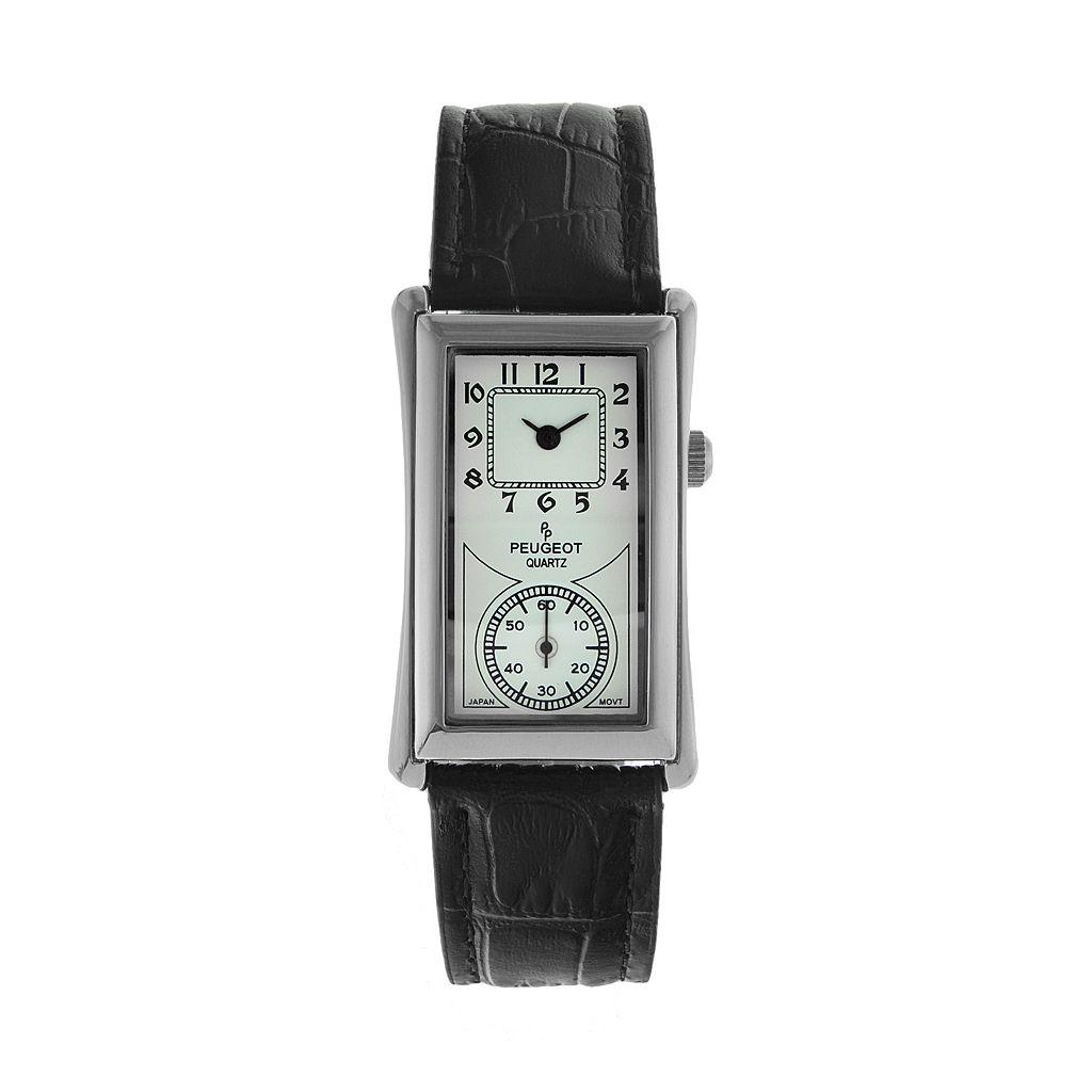 Peugeot Men's Leather Watch - 2038S