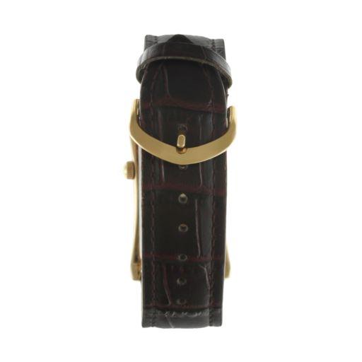 Peugeot Vintage Gold Tone Leather Watch - 2038G - Men