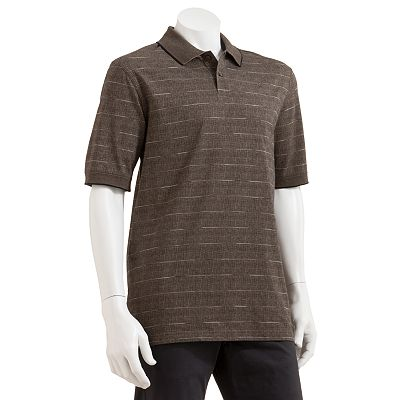Haggar Striped Jacquard Polo