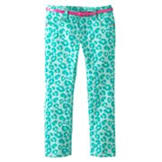 SONOMA life + style Cheetah Belted Pants - Girls 4-7