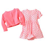 Carter's Floral Bodysuit Dress and Cardigan Set - Baby
