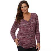 daisy fuentes Printed Pleated Tunic - Women's Plus
