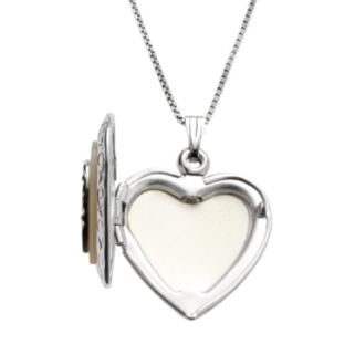 Sterling Silver Mother-of-Pearl Heart Locket