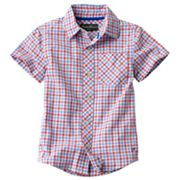 Eddie Bauer Checkered Woven Button-Down Shirt - Boys 4-7