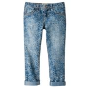 Mudd Floral Denim Skinny Crop Pants - Girls 4-6x