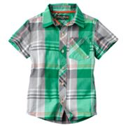 Eddie Bauer Plaid Woven Button-Down Shirt - Boys 4-7