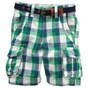 Eddie Bauer Belted Plaid Cargo Shorts - Boys 4-7