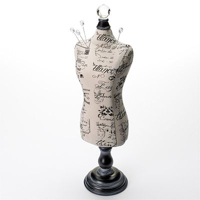 Black Mannequin Jewelry Stand