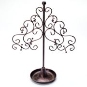 Copper Tone Scroll Tree Jewelry Stand