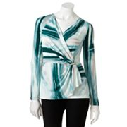 Jennifer Lopez Brushstroke Surplice Top - Petite