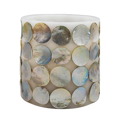 ELLE 4 x 4 Flameless LED Capiz Pillar Candle