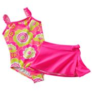 Carter's Floral One-Piece Swimsuit and Cover-Up Skirt Set - Girls 4-6x